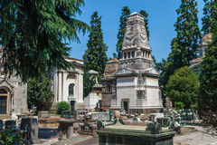 Milan, Italy. Famous landmark - the Monumental Cemetery Cimitero Monumentale Royalty Free Stock Photo