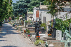 Milan, Italy. Famous landmark - the Monumental Cemetery Cimitero Monumentale Royalty Free Stock Images