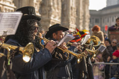 Brass line in parade, Milan Royalty Free Stock Images