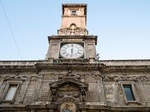 Facade of Palazzo Giureconsulti in Milan royalty free stock photos