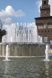 Fontana di Piazza Castello royalty free stock photo