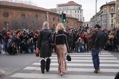 Milan fashion week day 2 Stock Photos