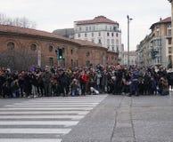 Milan fashion week day 2 Stock Photography
