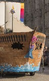 Pirate vessel float in parade, Milan Stock Photo