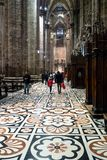 Mosaic pavement in Milan Cathedral royalty free stock photography