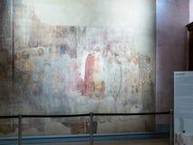 Fresco in church San Gottardo in Corte in Milan stock photo