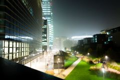 Milan, Italy, Financial district night view Stock Photography