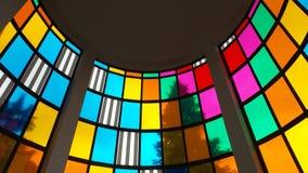 2014 Milan Italy, finestra di vetro macchiato Fotografia Stock Libera da Diritti
