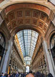 Milan, Italy. Galeria Vittorio Emanuele II Royalty Free Stock Photo