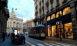 Milan Italy gata Arkivfoton
