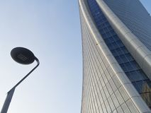 Milan Italy: Generali tower at Citylife Stock Image