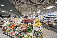 Free Milan, Italy - January 21 2019: Milan Central Station. Sapori And Dintorni Conad Supermarket. Fruit And Vegetable Royalty Free Stock Photography - 174074387