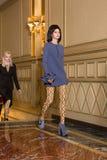 Beautiful model walking the runway royalty free stock photo