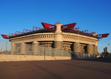 MILAN, ITALY, 2 Jenuary 2018:Stadio Giuseppe Meazza, commonly as San Sito. Where played Inter and Milan F.C Stock Images