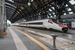 MILAN, ITALY – JULY 1: High speed train awaiting depature at t Royalty Free Stock Photography