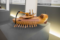 Free MILAN, ITALY - JUNE 9, 2016: Mobile Ram Boats Models Of Leonardo Stock Images - 81027264