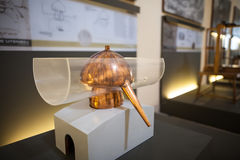MILAN, ITALY - JUNE 9, 2016: alembic model of Leonardo da Vinci` Stock Image