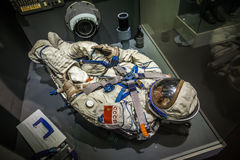 MILAN, ITALY - JUNE 9, 2016: astronaut spacesuit at the Science Royalty Free Stock Photo
