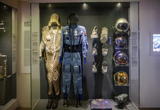 MILAN, ITALY - JUNE 9, 2016: astronaut spacesuit at the Science Stock Images
