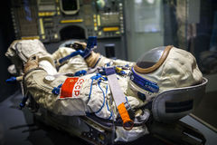 MILAN, ITALY - JUNE 9, 2016: astronaut spacesuit at the Science Royalty Free Stock Image