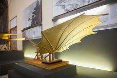MILAN, ITALY - JUNE 9, 2016: beating wing models of Leonardo da Royalty Free Stock Photo