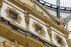 Elements and details of architecture Gallery of Victor Emmanuel II in Milan. royalty free stock photo