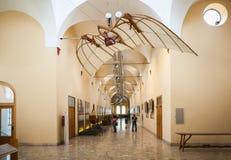 MILAN, ITALY - JUNE 9, 2016: flying machine of Leonardo da Vinci Stock Image