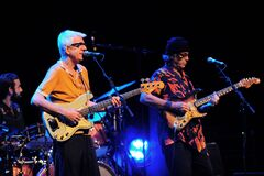 Ry Cooder and Nick Lowe during the concert