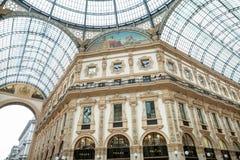 MILAN, ITALY - JUNE 8, 2016: View of Galleria Vittorio Emanuele Stock Photo