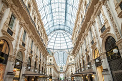 MILAN, ITALY - JUNE 8, 2016: View of Galleria Vittorio Emanuele Royalty Free Stock Photo