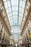 MILAN, ITALY - JUNE 8, 2016: View of Galleria Vittorio Emanuele Royalty Free Stock Images