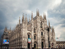 MILAN, ITALY - JUNE 8, 2016: view of Milan Cathedral Stock Photography