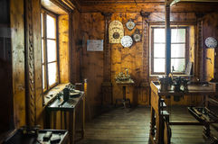 MILAN, ITALY - JUNE 9, 2016: watchmaker`s workshop at the Scienc Royalty Free Stock Images