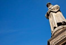 Milan - Italy: Leonardo Da Vinci statue Royalty Free Stock Photo
