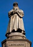 Milan - Italy: Leonardo Da Vinci statue Royalty Free Stock Photography