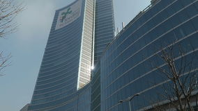 Milan, Italy Lombardy Buildings Palazzo Lombardia. The seat of the government of Lombardy Region in the Directional Centre of Milan stock footage