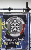 Election posters on billboard ahead of Italian General Election on March 4th, 2018 - CasaPound Italy is a neo-fascist. Milan, Italy - Mar 2nd, 2018: Election Royalty Free Stock Images