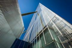 MILAN, ITALY - MAY 04 2016: CityLife Milan Allianz Tower designed by architects Arata Isozaki Royalty Free Stock Photography