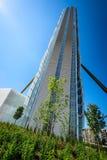 MILAN, ITALY - MAY 04 2016: CityLife Milan Allianz Tower designed by architects Arata Isozaki Stock Images
