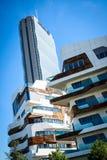 MILAN, ITALY - MAY 04 2016: CityLife Milan residential buildings near  Allianz Tower Royalty Free Stock Photos