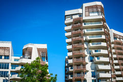 MILAN, ITALY - MAY 04 2016: CityLife Milan residential buildings near  Allianz Tower Stock Image