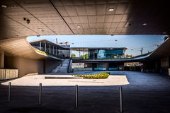 MILAN, ITALY - MAY 04 2016: CityLife Milan underground square and subway station near Allianz Tower Stock Photo