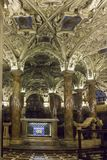 Coro Jemale crypt under Milano Duomo Cathedral,. MILAN, ITALY - MAY 11 2015: Coro Jemale crypt under Milano Duomo Cathedral, nobody around Royalty Free Stock Images