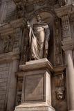 Milan, Italy - May 25, 2016: Giureconsulti palace. Sculpture Sancti Ambrosii. Stock Photography