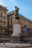 Milan, Italy - May 25, 2016: Giuseppe Parini statue in Milan Dante street. Stock Photo