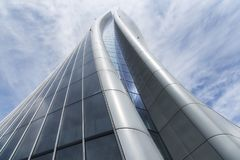 The Hadid tower in Citylife district, Milan, Italy Royalty Free Stock Photography