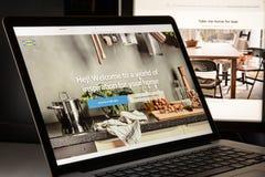 Milan, Italy - May 7, 2017: Ikea website homepage. Ikea logo visible Stock Image