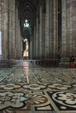 Inside Duomo cathedral in Milan, detail of the decorated floor Stock Image