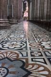 Inside Duomo cathedral in Milan Royalty Free Stock Photography