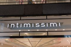 Intimissimi logo and sign. royalty free stock photos